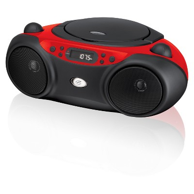 GPX CD, AM/FM Boombox - Red (BC232R)