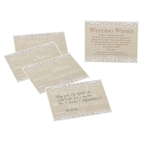 Country Lace Guest Cards Set Of 48 Target