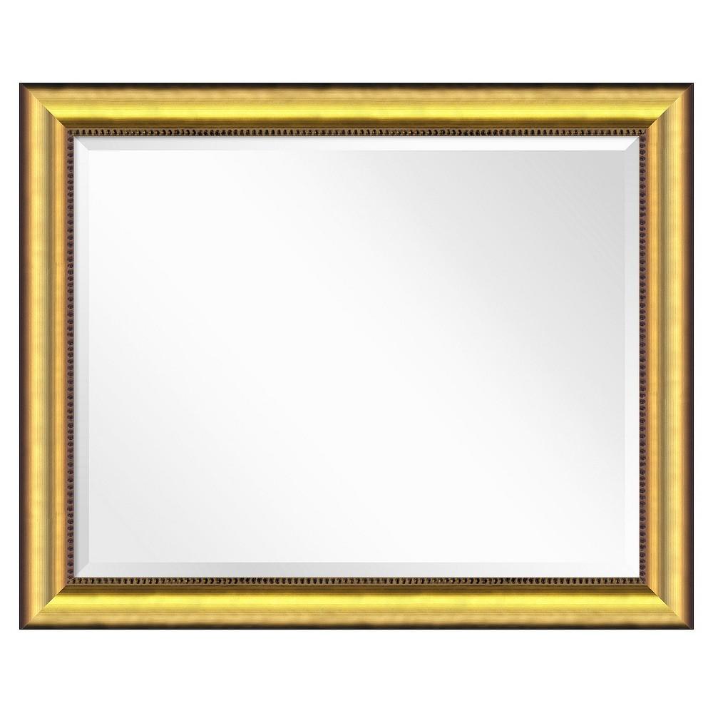 Image of Rectangle Vegas Burnished Decorative Wall Mirror Gold - Amanti Art