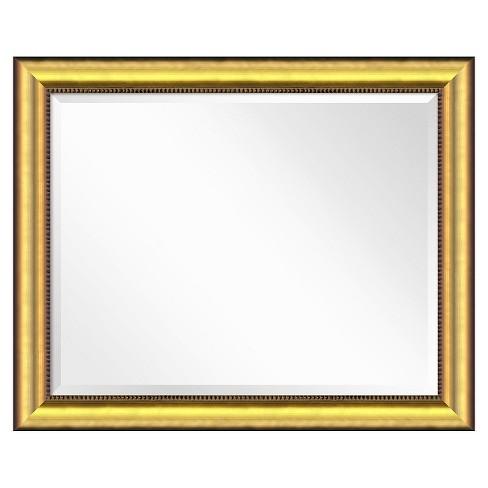 Rectangle Vegas Burnished Decorative Wall Mirror Gold - Amanti Art - image 1 of 4