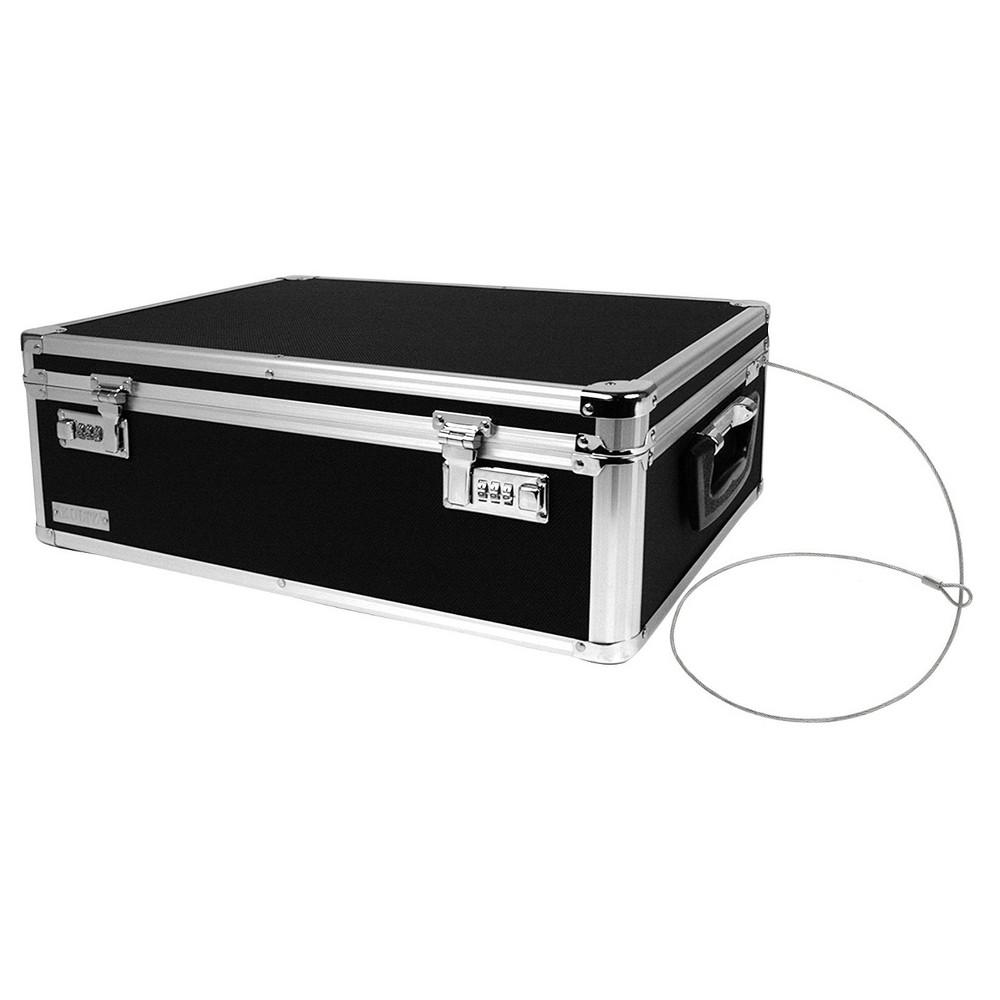 Image of Vaultz Locking Storage Chest - Black