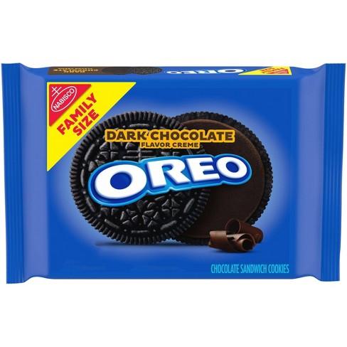 Oreo Dark Chocolate Flavor Creme Chocolate Sandwich Cookies Family Size - 17oz - image 1 of 4