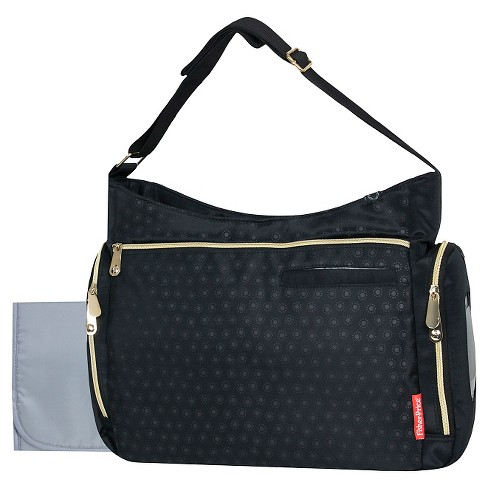 Fisher Price Black With Gold Zipper