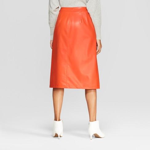 fb2aefa602d Women s Faux Leather Midi Skirt - Prologue™   Target