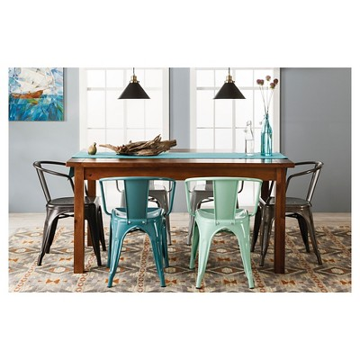 Carlisle Metal Dining Chair   Mint Green (Set Of 2)