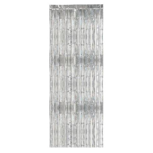Fringe Backdrop Silver - Spritz™ - image 1 of 2