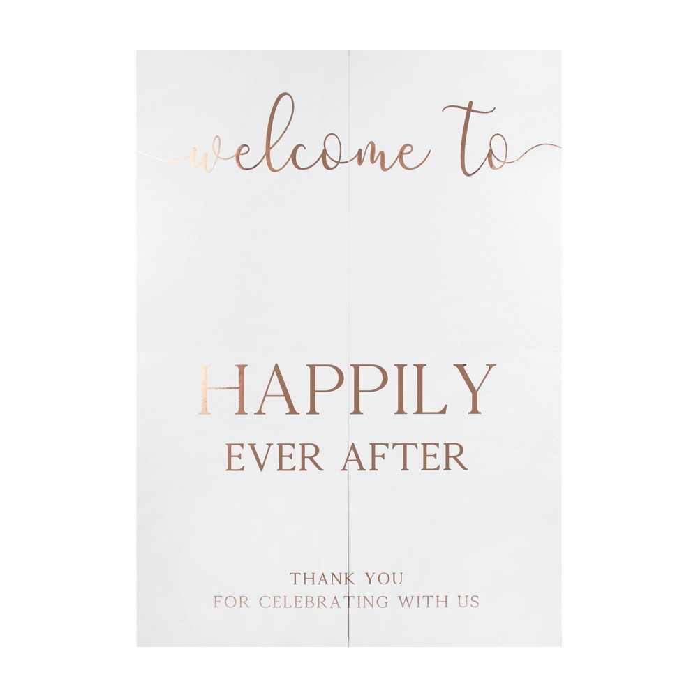Image of Wedding Entrance Welcome Sign