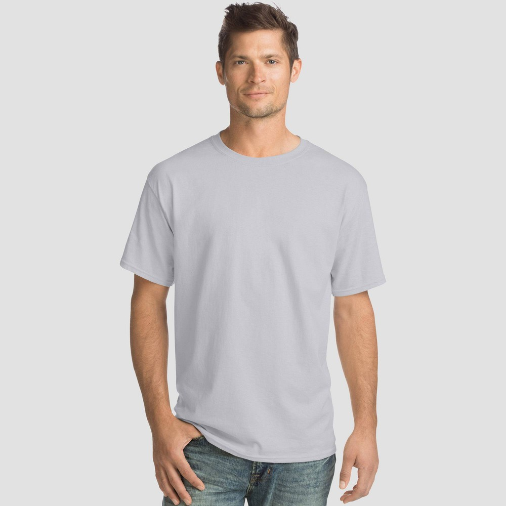 Hanes Men 39 S Big 38 Tall Comfort Wash Short Sleeve T Shirt 4pk Ash 3xl