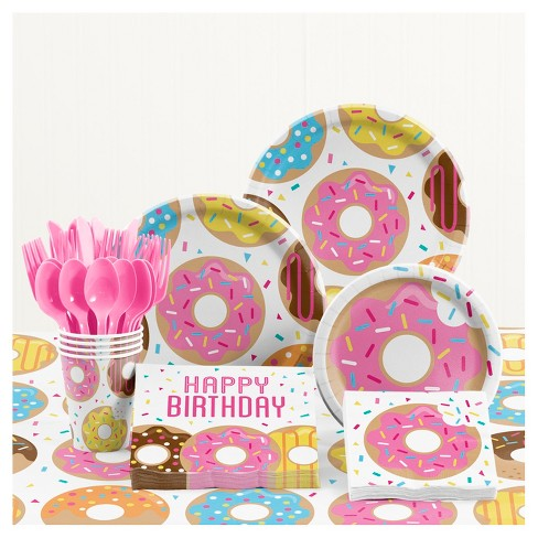 Donut Time Birthday Party Supplies Kit Target