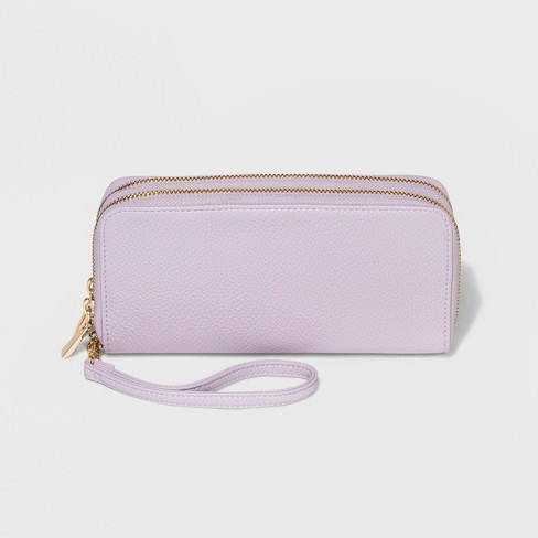 b6b46fc7406a Classic Double Zip Around Wristlet - A New Day™   Target