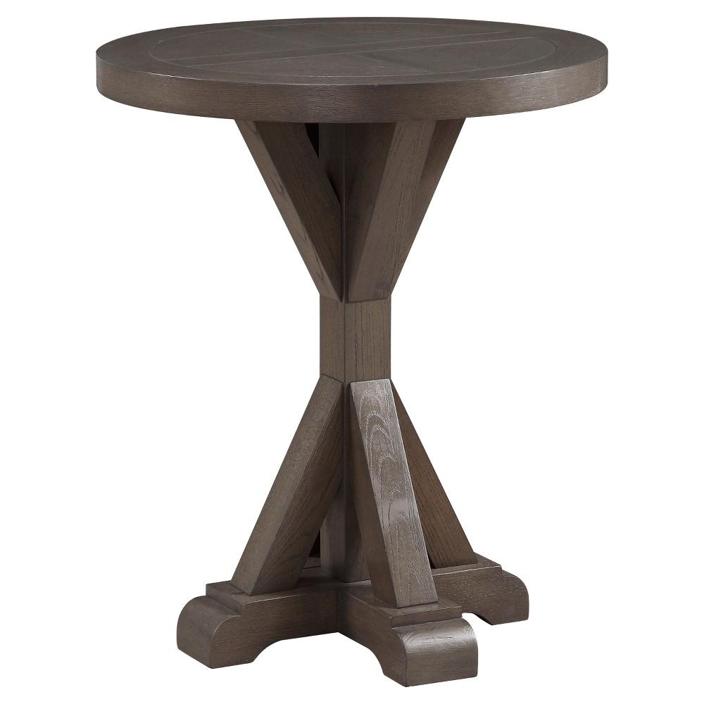 Westbrook Round End Table - Cobblestone - Treasure Trove