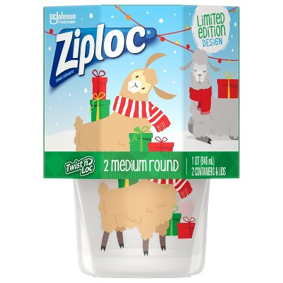 Ziploc Holiday Twist 'N Loc Storage Containers - Clear - 32oz/2ct