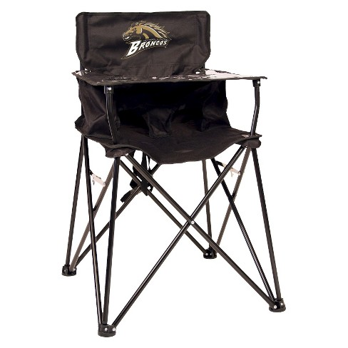 ciao! baby® Western Michigan Broncos Portable High Chair in Black - image 1 of 1