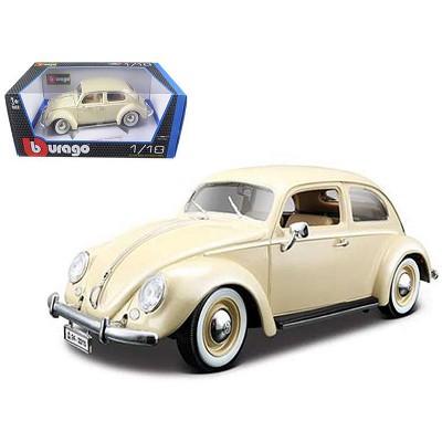 1955 Volkswagen Beetle Kafer Beige 1/18 Diecast Model Car by Bburago