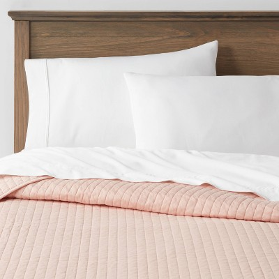 Full/Queen Washed Cotton Sateen Quilt Blush - Threshold™