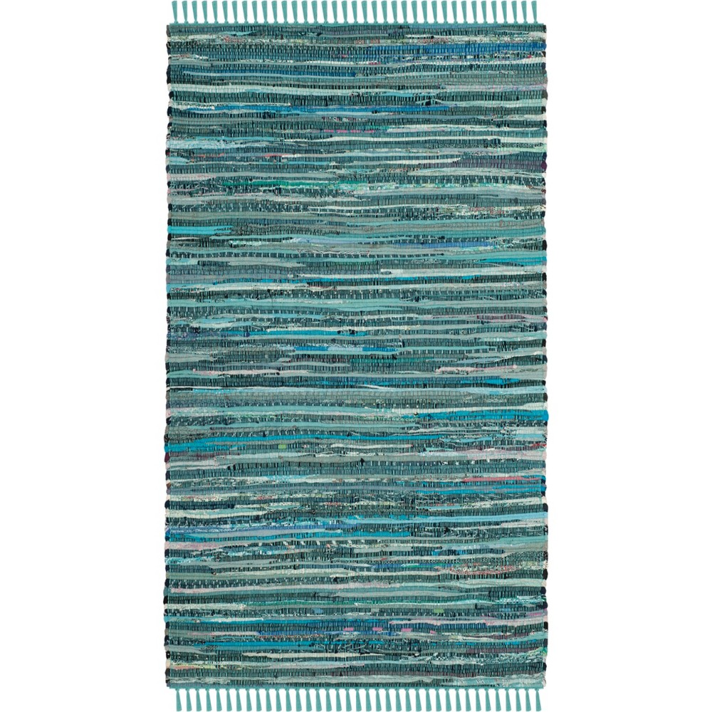 2'X3' Spacedye Design Woven Accent Rug Turquoise - Safavieh, Turquoise/Multi-Colored