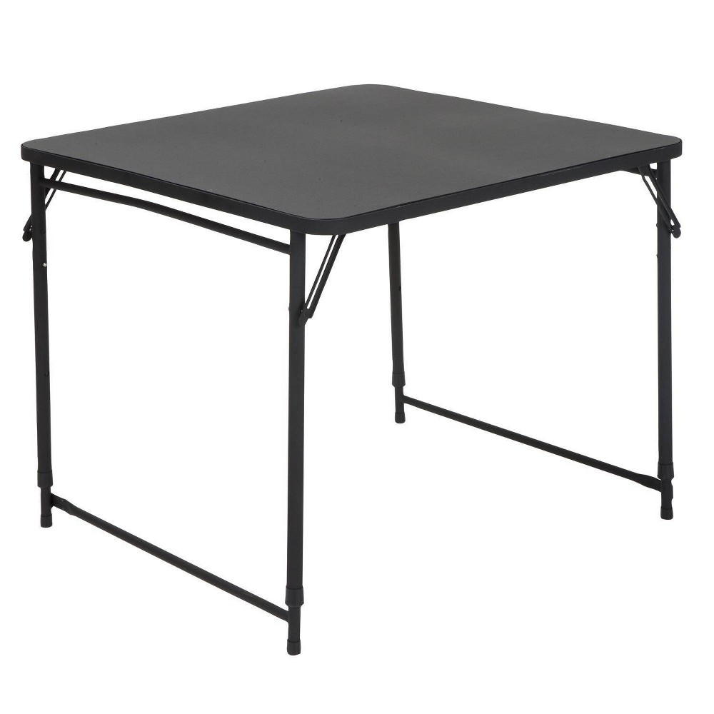 """Image of """"34"""""""" Square Adjustable Height PVC Top Table Black - Room & Joy"""""""
