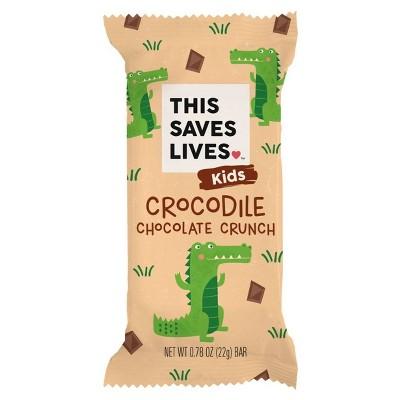 This Saves Lives Crocodile Chocolate Crunch Krispy Treat Bar - 22g