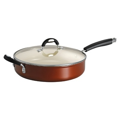 "Tramontina Style Ceramica 11"" Aluminum Covered Deep Skillet - Metallic Copper"
