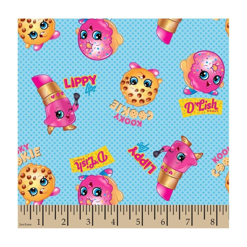 Image of Shopkins Friends Fabric by the Yard