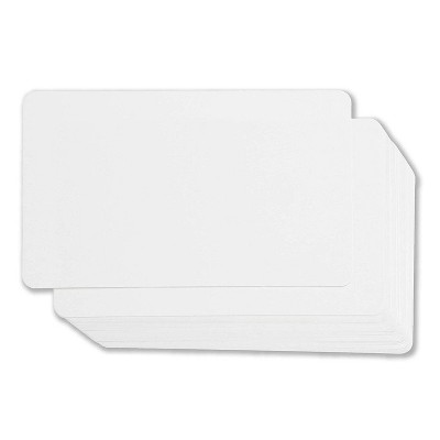Juvale Blank Index Cards - 100-Count Rounded Blank Flash Cards, for Business Cards Message Cards, DIY Gift Cards, White, 3 x 5 Inches