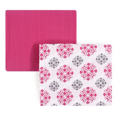 Yoga Sprout Baby Girl Cotton Muslin Swaddle Blankets, Medallion, One Size