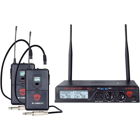 Nady U-2100 GT - Dual Channel UHF Wireless Guitar/Instrument System Band A and B - image 1 of 4
