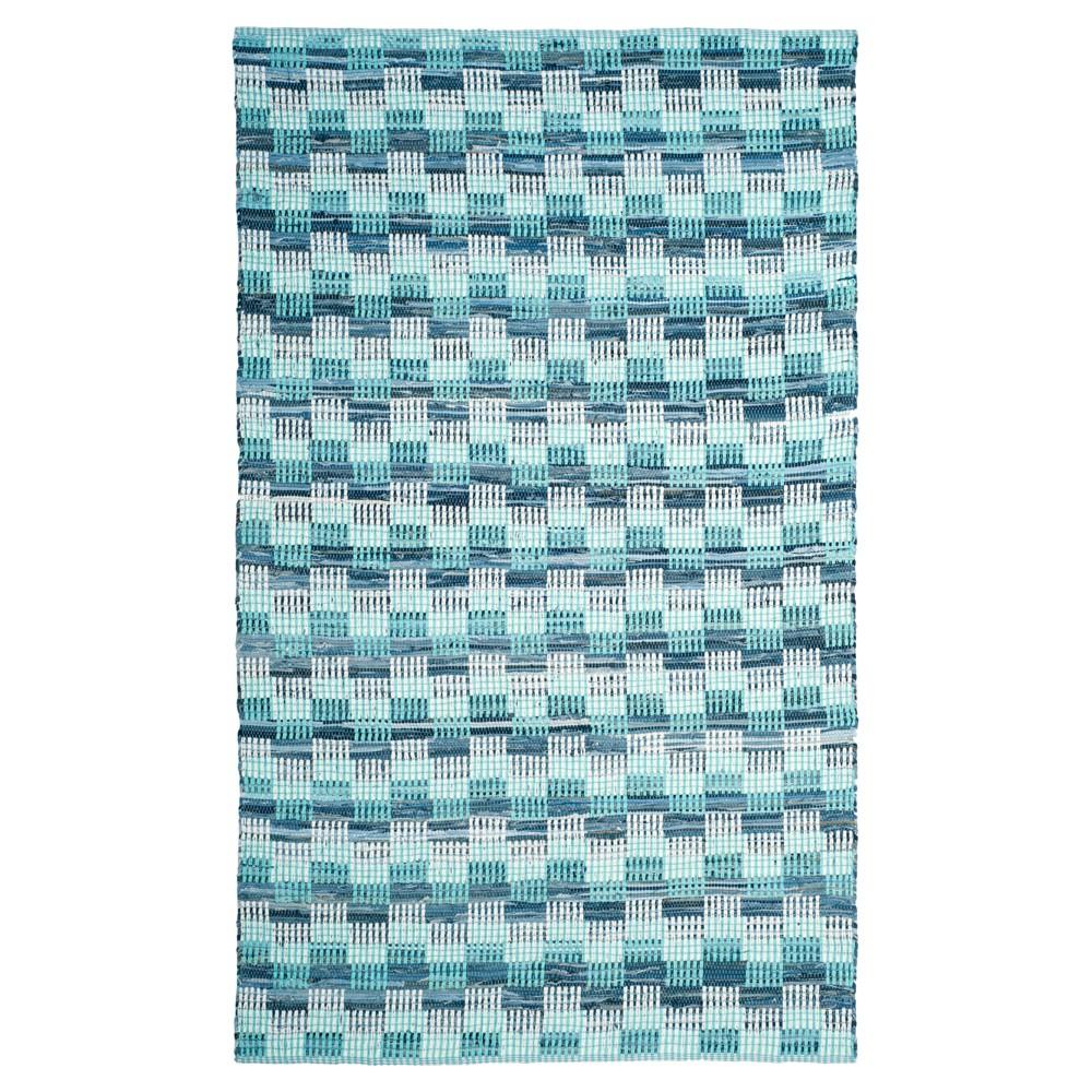 Geometric Flatweave Woven Area Rug 5'X8' - Safavieh, Turquoise/Multicolor