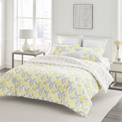 Laura Ashley King Serena Comforter Set Yellow