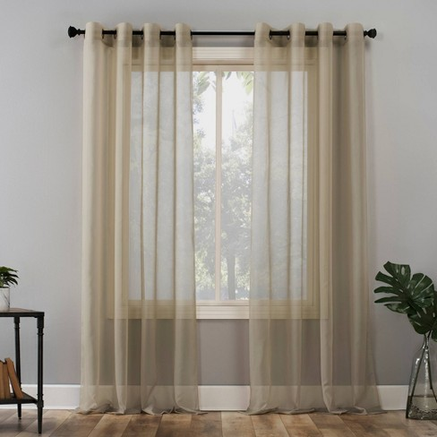 Emily Sheer Voile Grommet Top Curtain Panel - No. 918 - image 1 of 4