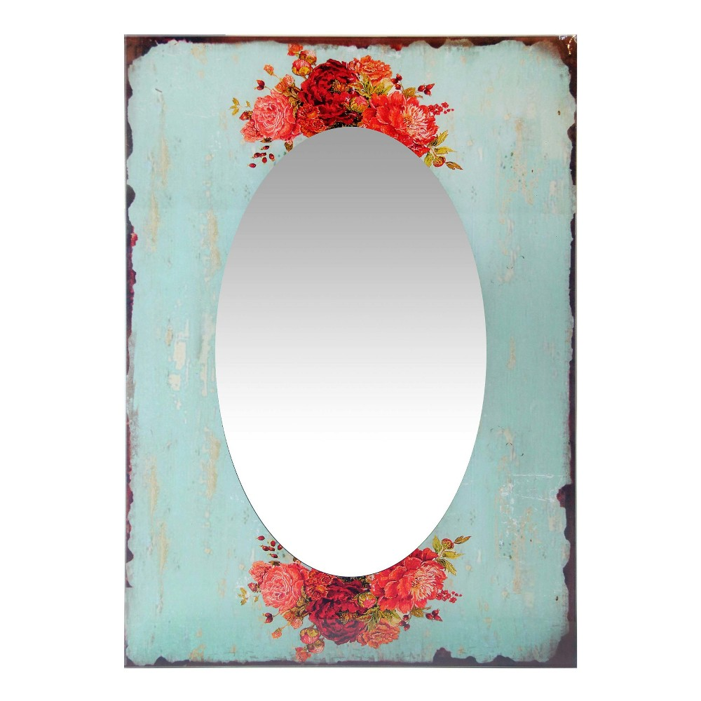 "Image of ""Country Garden 27.5"""" X 19.75"""" Wall Mirror - Infinity Instruments, Multi-Colored"""