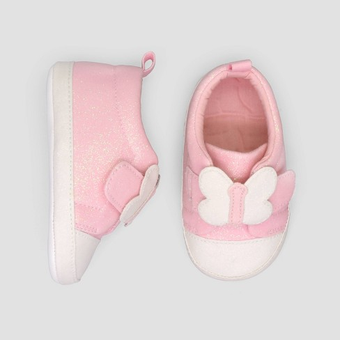 Baby Girls' Butterfly Sneakers - Just One You® made by carter's Pink 3-6M - image 1 of 1