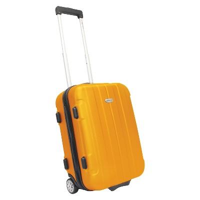 """Traveler's Choice Rome 21"""" Hardside Carry On Suitcase - Orange"""