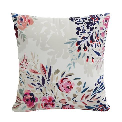 18 X 18 Outdoor Decorative Throw Pillow Bianca Floral Skyline Furniture Target
