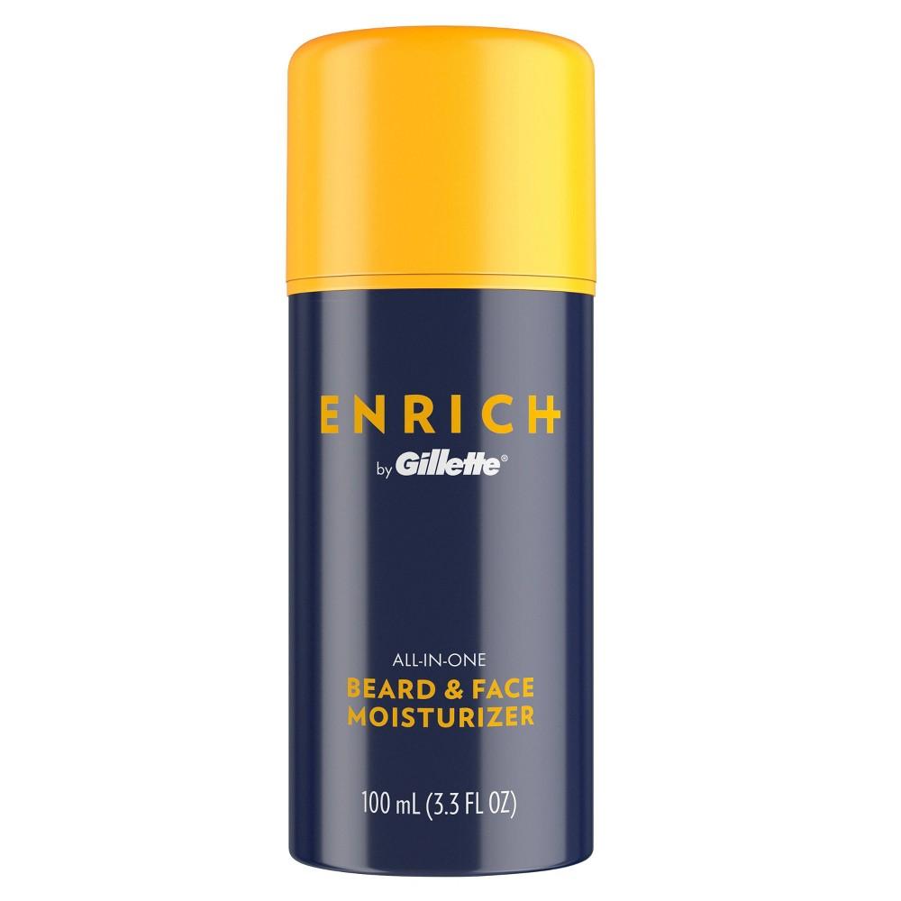 Image of Gillette Enrich Men's All-In-One Beard & Face Moisturizer - 3.3 fl oz