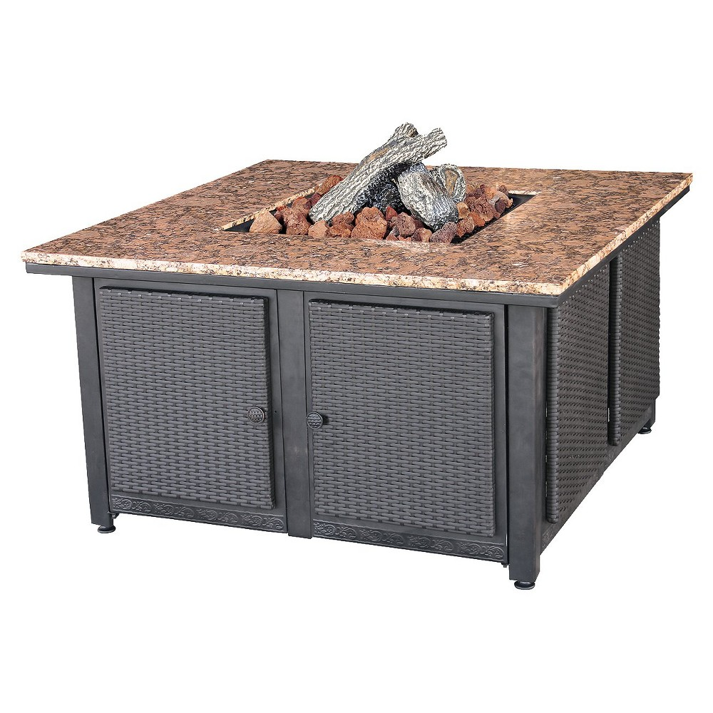 "Image of ""41"""" Propane Fire Pit - Square - Blue Rhino"""