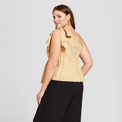 One Shoulder Plus Size Tops