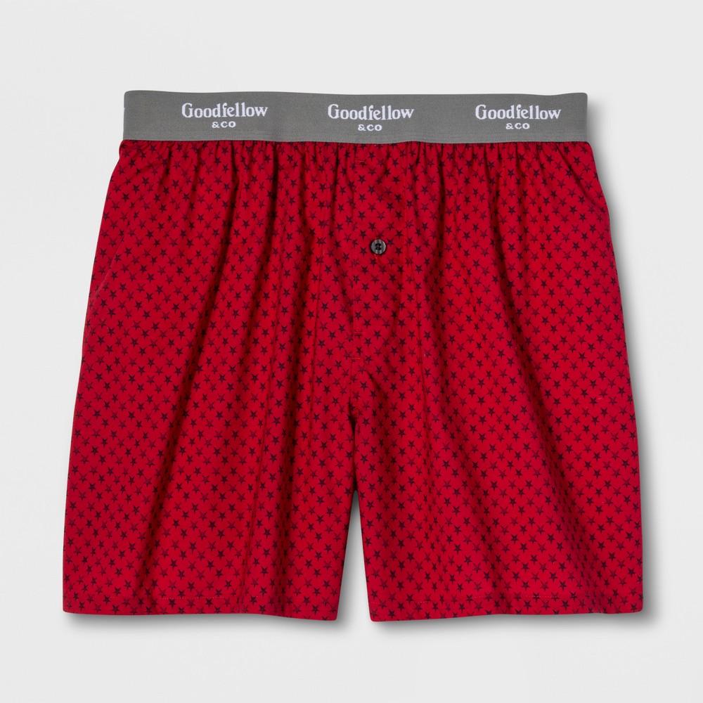 Men's Woven Boxer Shorts - Goodfellow & Co Stars XL, Red