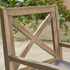 Perla 2pk Acacia Wood Patio Dining Chair - Christopher Knight Home - image 4 of 4