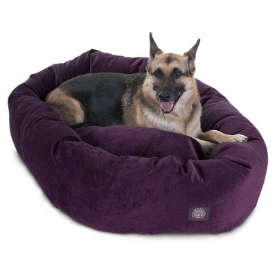 Majestic Pet Villa Bagel Dog Bed - Purple Aubergine - X-Large - XL