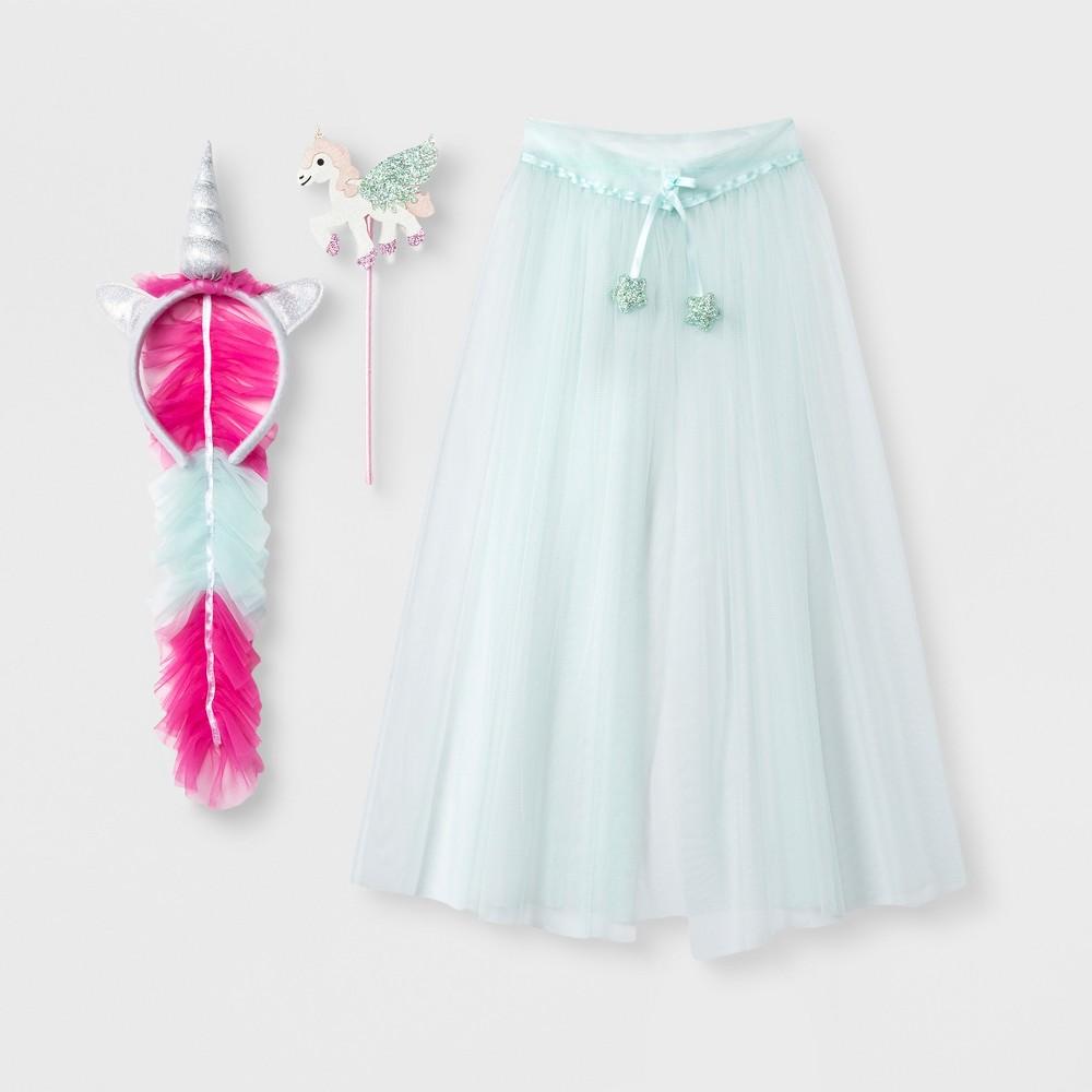 Toddler Girls' 3pc Unicorn Dress Up Set - Cat & Jack Blue 2T-4T