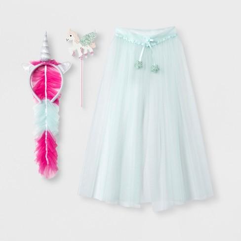 5c11f141 Toddler Girls' 3pc Unicorn Dress Up Set - Cat & Jack™ Blue 2T-4T : Target