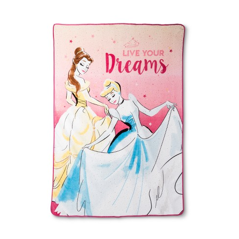disney princess lead with your heart gold foil bed blanket twin