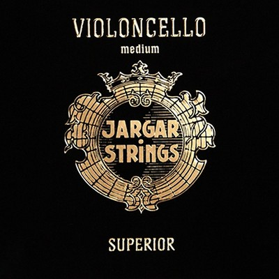 Jargar Superior Series Synthetic Core Cello String Set 4/4 Size, Medium