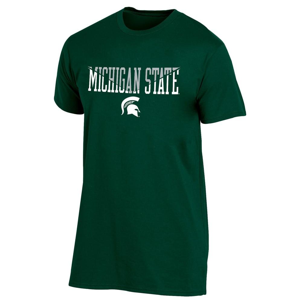 Michigan State Spartans Men's Short Sleeve Core Wordmark T-Shirt - Xxl, Multicolored