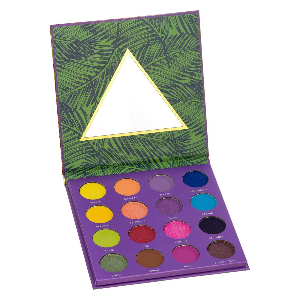 Image of Color Story Tropical Glow Pressed Pigment Eyeshadow Palette - 0.32oz