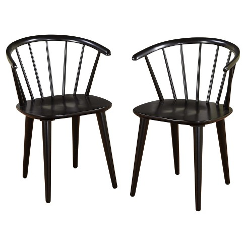 Set Of 2 Florence Dining Chairs Wood Black Buylateral Target