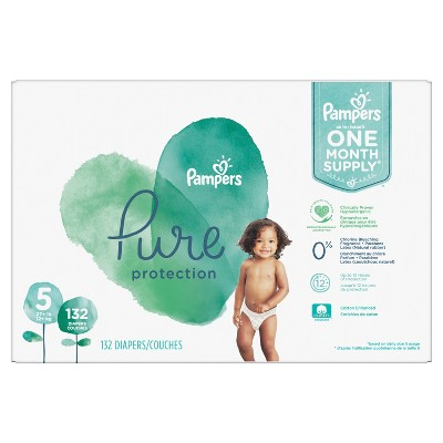 Pampers Pure Disposable Diapers One Month Supply - Size 5 (132ct)