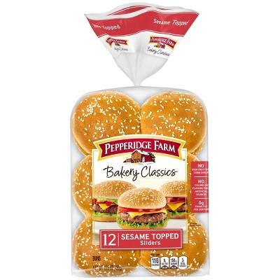 Peperidge Farm Bakery Classics Sesame Slider Buns - 15.5oz/12ct