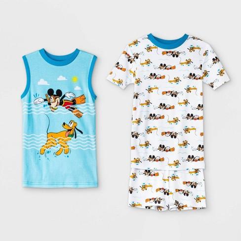 Boys' Mickey Mouse & Friends Mickey & Pluto 3pc Pajama Set - Disney Store - image 1 of 1